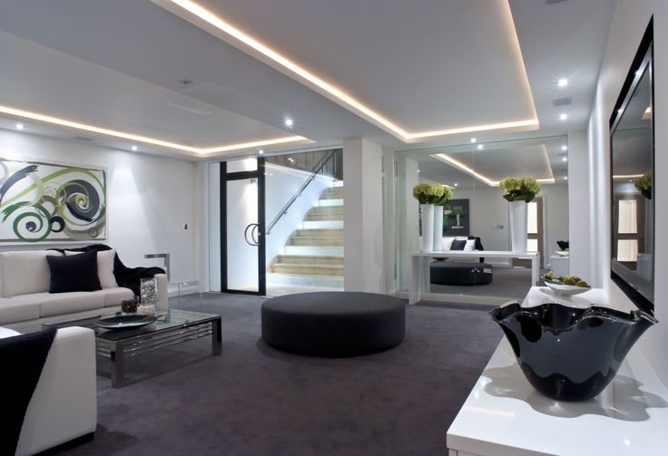 11 best images about luxury basements on pinterest for Modern finished basements
