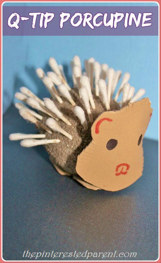 Q Tip Porcupine Craft Fine Motor Fun Amp Games Pinterest