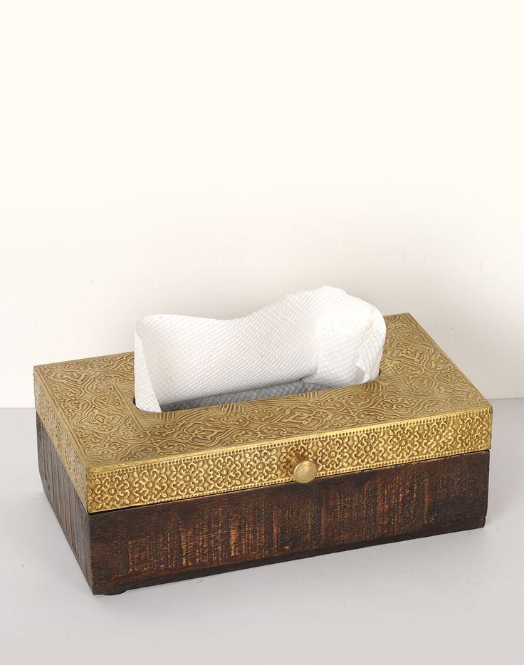 #embossed #metal #tissue box