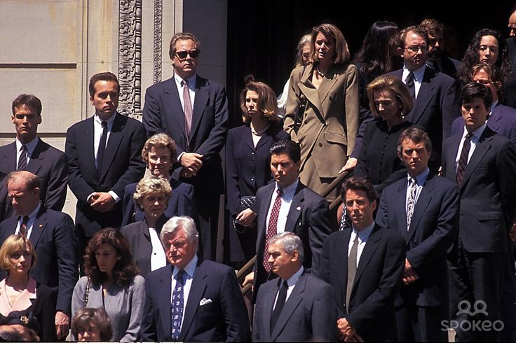 Mourners at the memorial service for John F Kennedy Jr