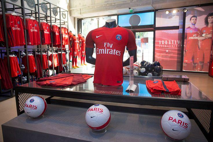 Paris Saint-Germain Megastore during the launch of the new away jersey 16-17