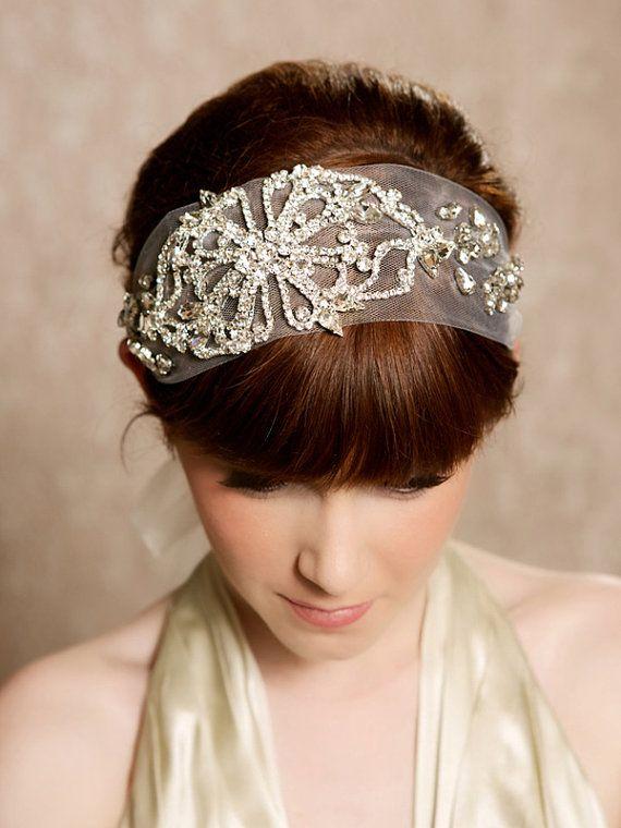 Crystal Headband By Gilded Shadows Gatsby 1920s Hair Accessories