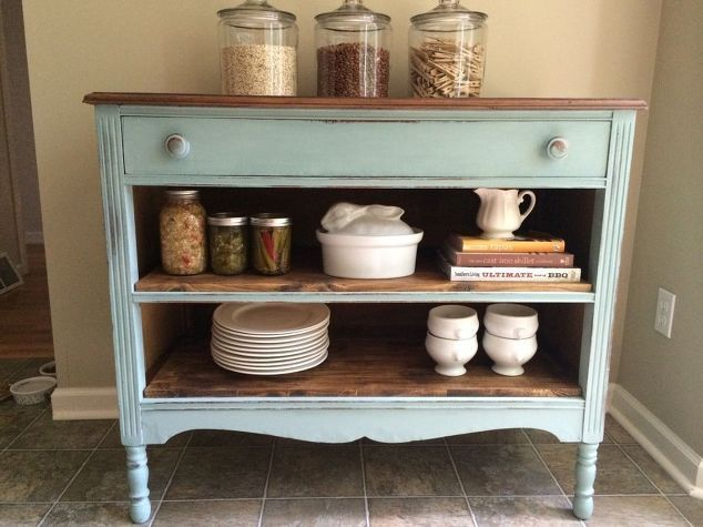 a less than perfect dresser, painted furniture