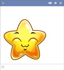 Post this cheerful star on your Facebook timeline to express how you're feeling.
