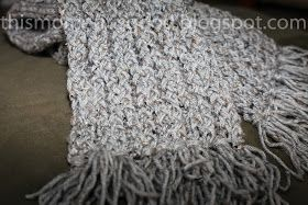 This Moment is Good...: LOOM KNIT: ELEGANT HONEYCOMB SCARF
