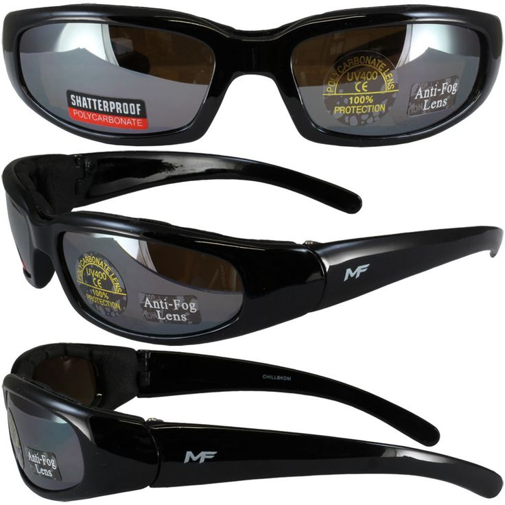 Chill black frame driving mirror lenses mf motorcycle