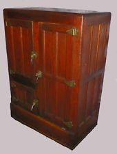 Antique Oak Ice Box, Herrick Refrigerator Company Waterloo, Iowa, ca. 1910