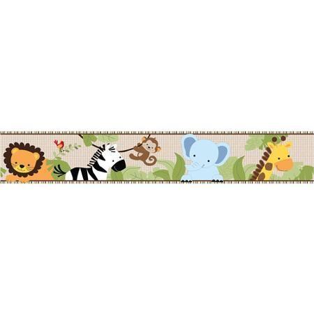 Lambs & Ivy Bedtime Originals Jungle Buddies Wallpaper
