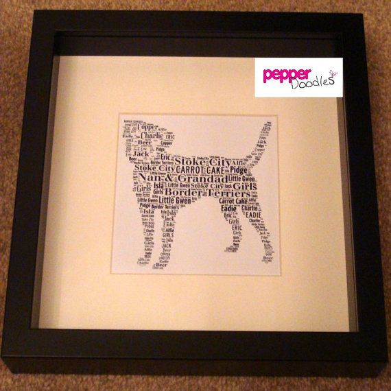 Personalised Border Terrier Dog Unframed Print by PepperDoodles