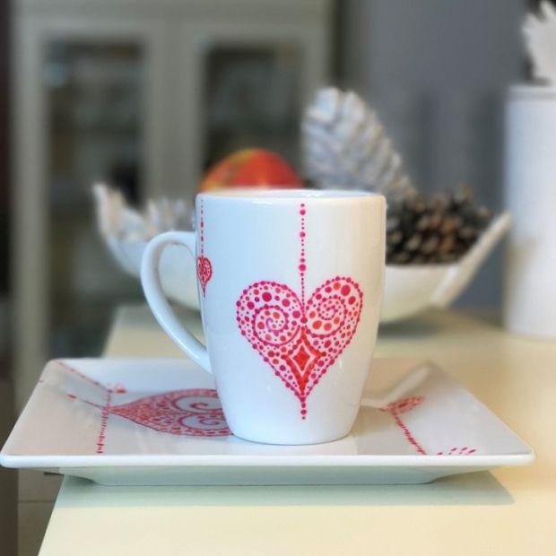 Zestaw Ręcznie Malowane Serce - Mood Moments