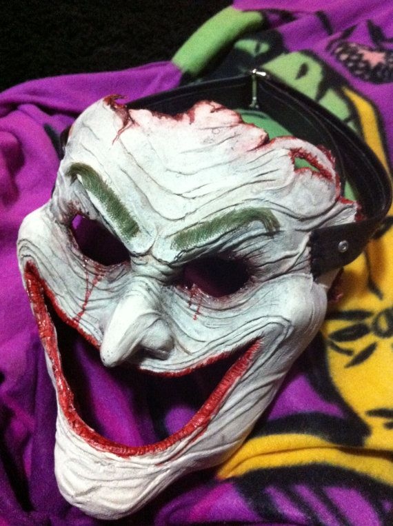 Cosplay Skinned Joker Face Mask. From the DC Comics Death of the Family. $200 on Etsy http://www.etsy.com/listing/121310684/cosplay-skinned-joker-face-mask-from-the?ref=sr_gallery_1_search_query=Joker+mask+skin_order=most_relevant_view_type=gallery_ship_to=CA_search_type=all_facet=Joker+mask+skin