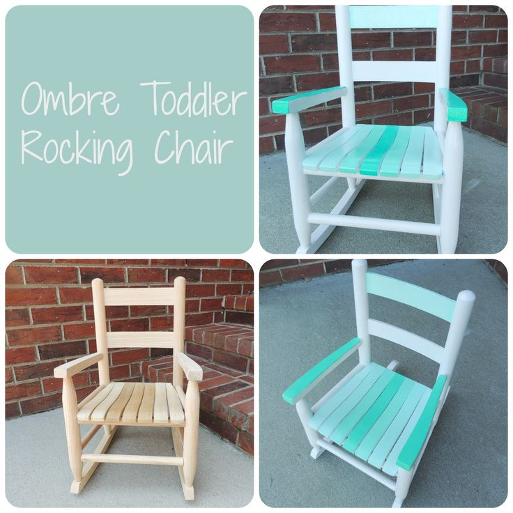 Wooden Rocking Chair From Michaels, Painted With Indoor/outdoor White Behr  Pain And Martha