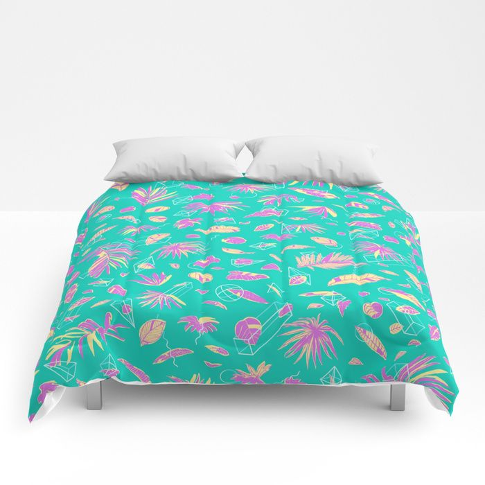 Buy Botanical Geometry [ice cream] Comforters by danlehman. Worldwide shipping available at Society6.com. $120