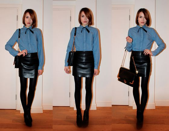 whistles denim shirt outfitters leather skirt