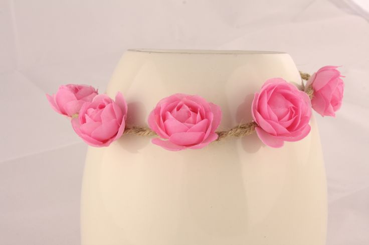 Pink Floral Head Piece