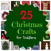 Get your Christmas craft on - toddler style! 25 fun crafts for you and your toddler to do this holiday season.