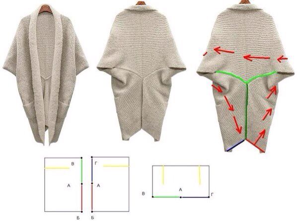 DIY Cardigan Note: I want to make this reversible.