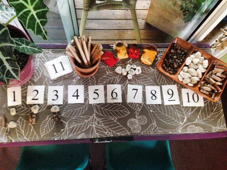 Wonderful numeracy experience using natural materials Yarn Strong Sista ≈≈