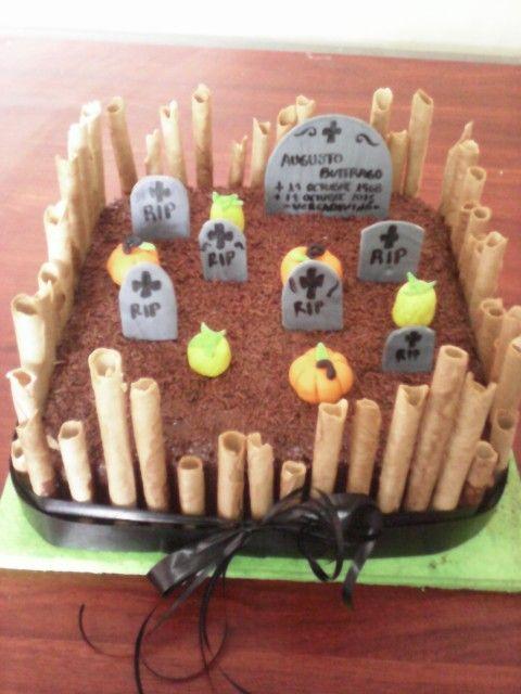 Torta cementerio halloween