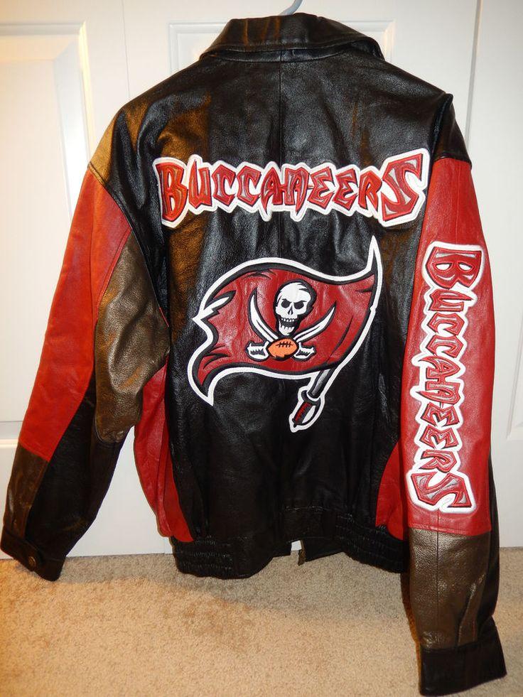 $199.99 TAMPA BAY BUCCANEERS 100% Leather Football Jacket M Authentic Carl Banks G-III  #GIIICarlBanks #TampaBayBuccaneers