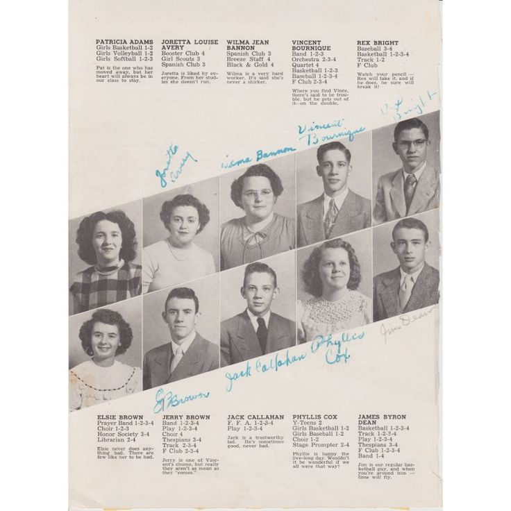 A single page from the Fairmount High school yearbook, 1949, signed by James Dean! Bidding ends on May 24. There's still time to register to bid at pfcauctions.com.