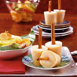 Quitten-Zitronen-Eis am Zimtstiel