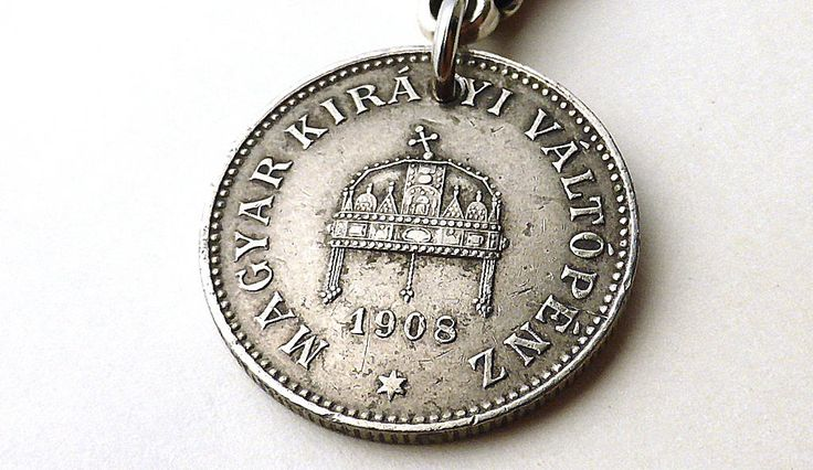 Hungarian, Antique charm, Zipper charm, Christian charm, Handbag accessory, Clothing accessory, Antique jewelry, Hungary, Coins, Charm, 1908 by CoinStories on Etsy
