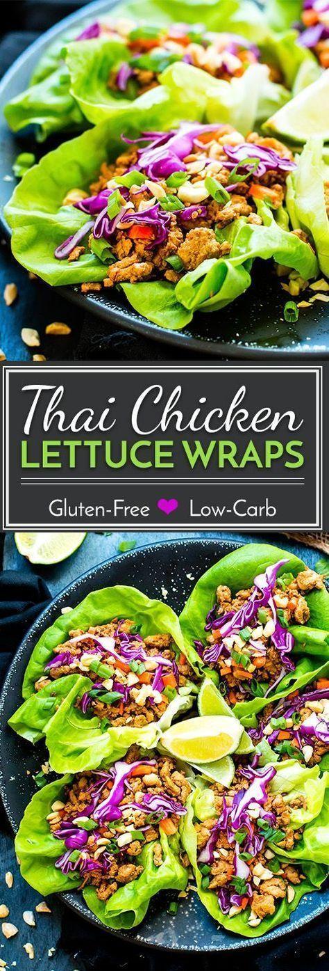 Ground Chicken Thai Lettuce Wraps