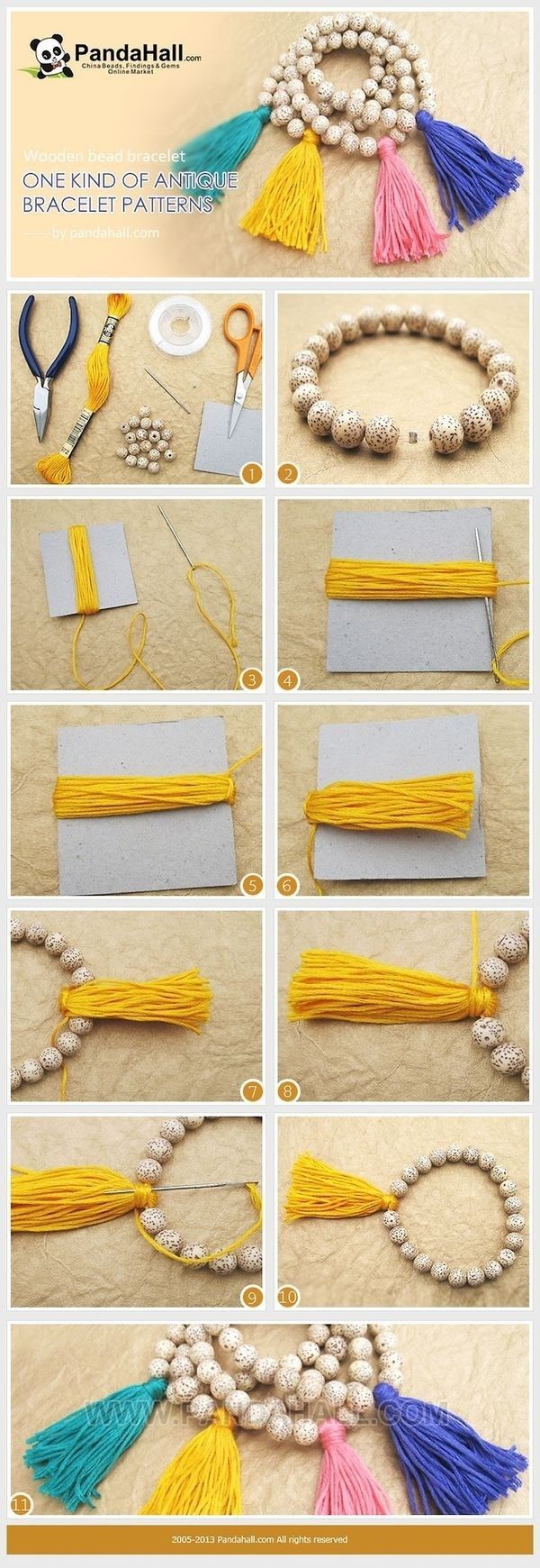 A simple way to do a little bracelet.
