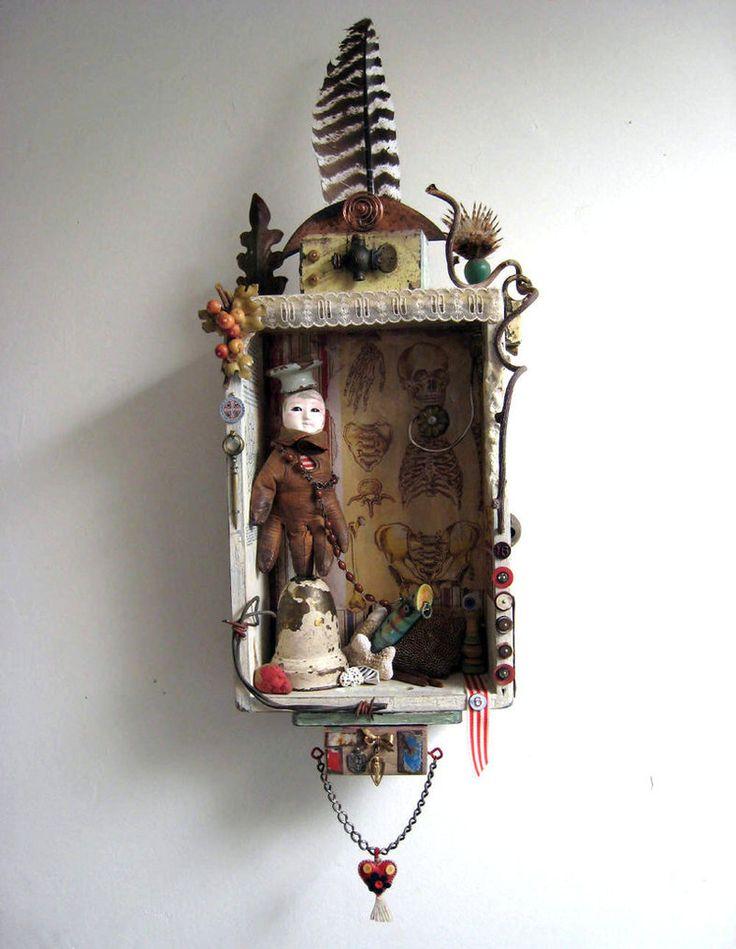 Altered Treasures - Assemblage - Art jewelry - mixed media - *bugatha1