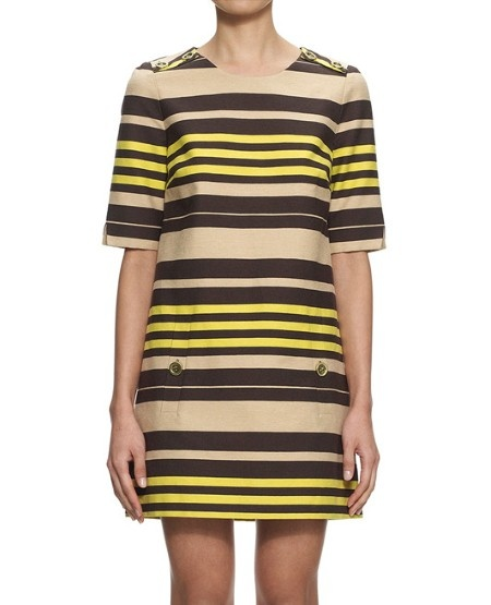 Whistles Edith wide stripe shift dress