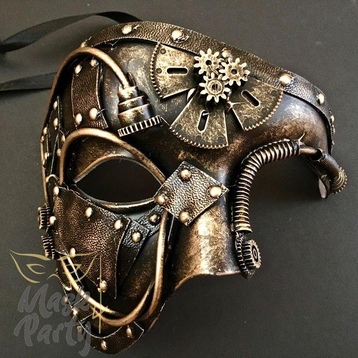 Mechanical Phantom Steampunk Masquerade Mask Adult nemesis now