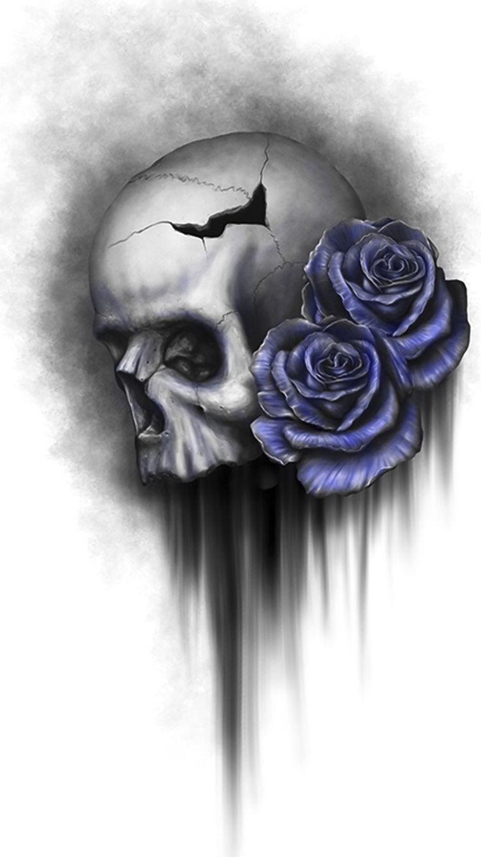 Pin by Caitlin V Kraft on wallpaper | Filigree tattoo, Skull art, Skull
