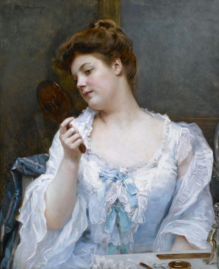 Raimundo de Madrazo y Garreta (1841-1920) — A Young Beauty at Her Vanity  (2000x2460)