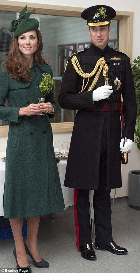 Cheers to that! Kate and William sampled some sherry and Guinness at the St. Patrick's Day Parade Read more: www.dailymail.co.... Follow us: @MailOnline on Twitter | DailyMail on Facebook