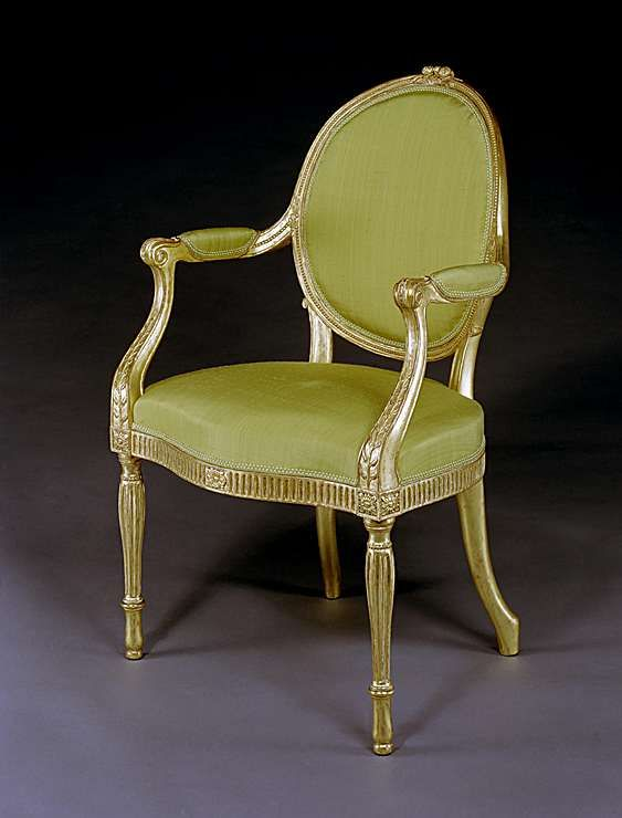 A GEORGE III GILTWOOD ARMCHAIR ATTRIBUTED TO THOMAS CHIPPENDALE Circa: 1770  · Georgian Style HouseFurniture ...