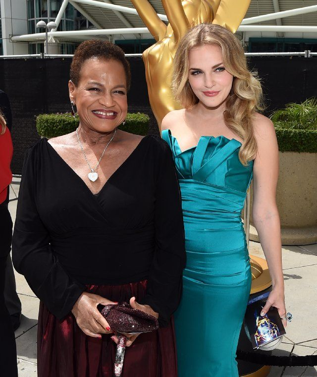 Michelle Hurst and Madeline Brewer at The 66th Primetime Emmy Awards
