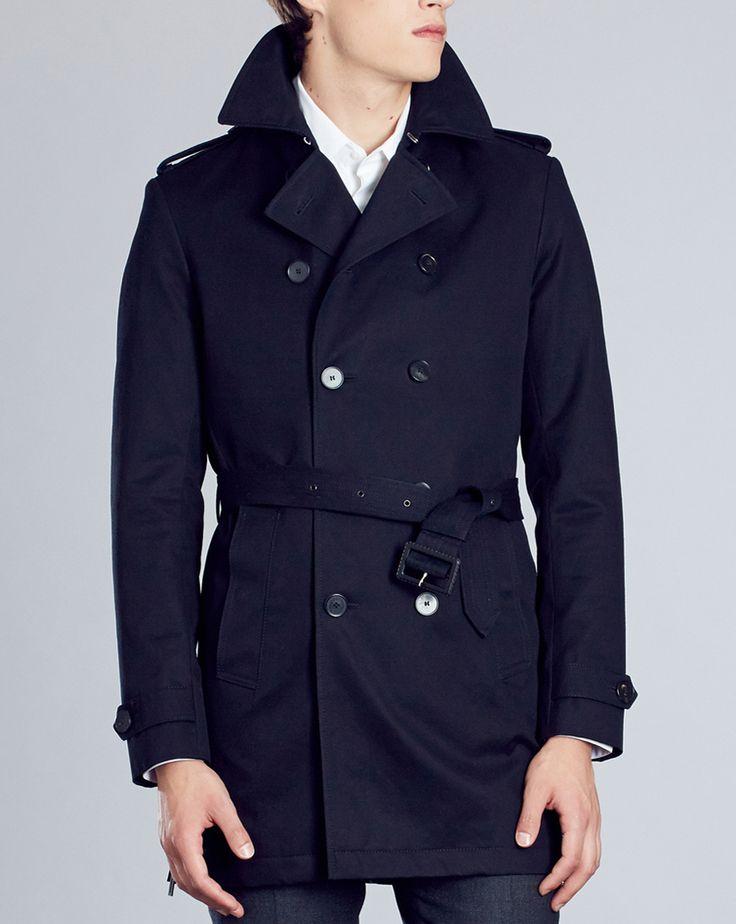 Manteau trench homme bleu