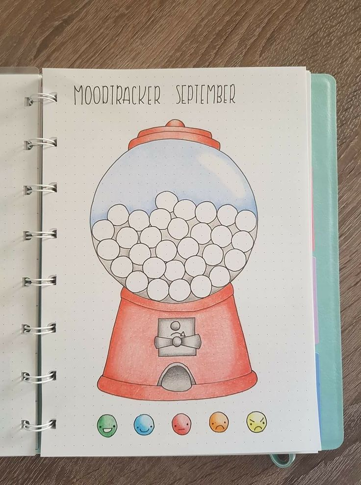 Mood tracker idea for your bullet journal or planner. Love how colorful this is!