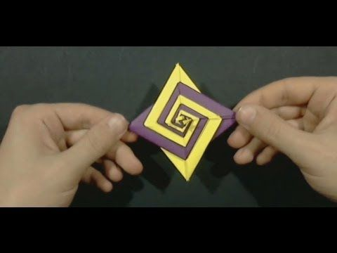 Christmas Origami Spiral by Tomoko Fuse - Yakomoga Origami tutorial - YouTube