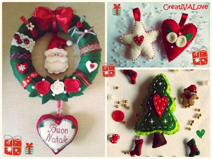 Creativalove handmade. Decorazioni natalizie in pannolenci.