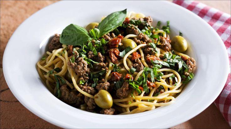 Italiensk pasta med kjøttsaus