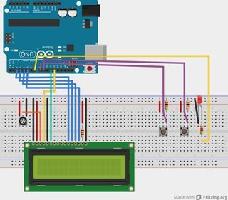 """This project is an upgrade on my """"DIY Arduino LCD shield"""" go check out how to make it on my channel! In this project I'm going to use an Arduino Uno..."""