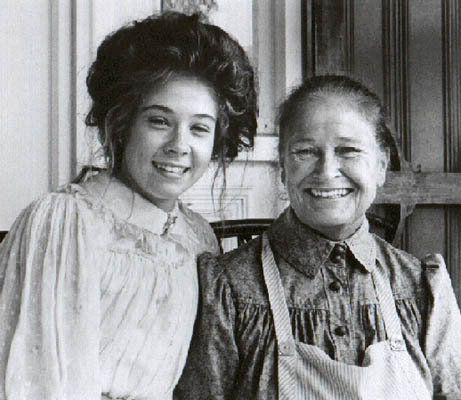 "Behind the scenes from ""Anne of Avonlea"", Megan Follows and Colleen Dewhurst-1990"