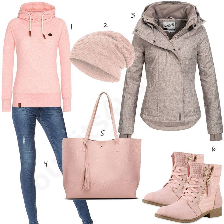 Rosa Naketano Damen Outfit Komplettes Herbst Outfit