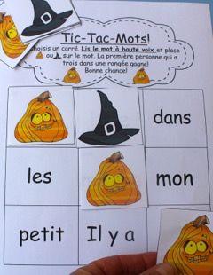 Une des nombreuses activités pour accompagner la  comptine pour L'Halloween!