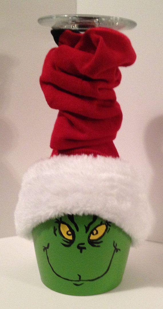 Holiday Grinch Decoration by DoraElfers on Etsy