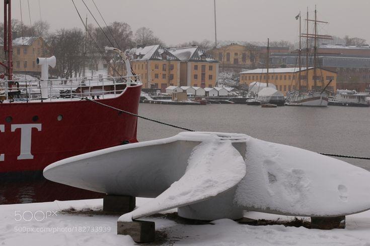 http://500px.com/photo/182733939 Stockholm Harbour. by belfastlough -. Tags: landscapefrozenseawinterwatercoldtravelharbourshipsnowiceweatherswedenstockholmwatercraftno persontransportation system