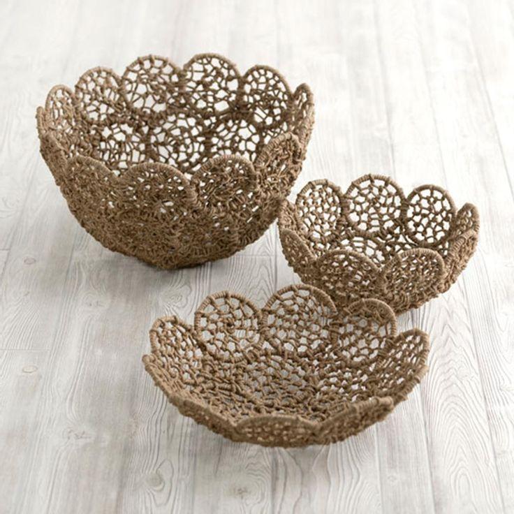 - noemi macrame bowls #SL-14-89-001 -002 -003