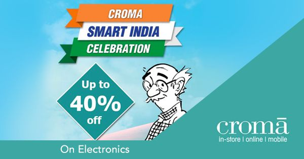 It's time for a #SmartNewLife with all your favourite #gadgets & #electronics at #Croma Smart India Celebration.